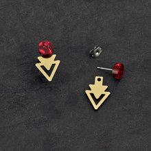 Load image into Gallery viewer, Earrings ARROW JACKETS MINI STUDS Arrow Jacket Mini Studs | Statement Earrings | MAINE+MARA Shop
