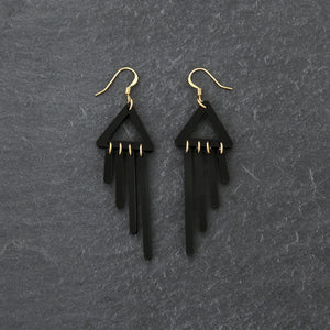 earrings BLACK / HOOK COLOUR POP CHIMETTES Colour Pop Chimettes Short Dangles | Handmade Statement Earrings | MAINE+MARA Shop