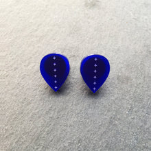 Load image into Gallery viewer, Earrings BLUE LEAVE ME HERE STUD EARRINGS LEAVE ME HERE | Meaningful Statement Stud Earrings | MAINE+MARA Shop