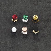 Load image into Gallery viewer, Earrings GLITTERY GOLD / BLACK CROWN JACKET MINI STUDS Crown Jacket Glittery Studs | Statement Earrings | MAINE+MARA Shop