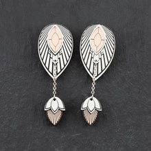 Load image into Gallery viewer, Earrings LARGE THE ATHENA I Silver and Rose Gold Stackable Earrings THE ATHENA I Silver and Rose Gold Customisable Earrings I Handmade in Australia