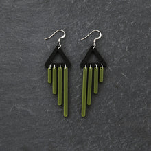 Load image into Gallery viewer, earrings OLIVE / HOOK COLOUR POP CHIMETTES Colour Pop Chimettes Short Dangles | Handmade Statement Earrings | MAINE+MARA Shop
