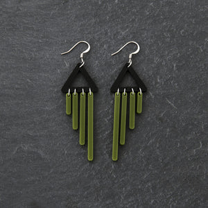 earrings OLIVE / HOOK COLOUR POP CHIMETTES Colour Pop Chimettes Short Dangles | Handmade Statement Earrings | MAINE+MARA Shop