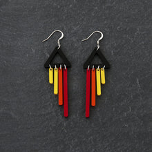 Load image into Gallery viewer, Earrings PHOENIX / HOOK BOLD BIRD CHIMETTES Bold Colourful Short Dangles | Hook or Clip-on Statement Earrings | MAINE+MARA Shop
