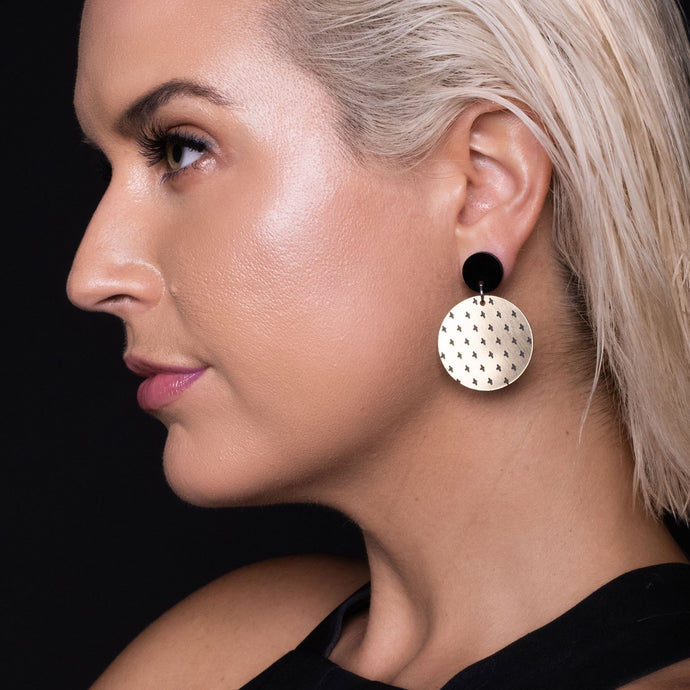 Earrings PLUS SIDE DANGLES PLUS SIDE DANGLES | Round statement Earrings | MAINE+MARA Shop