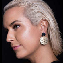 Load image into Gallery viewer, Earrings PLUS SIDE DANGLES PLUS SIDE DANGLES | Round statement Earrings | MAINE+MARA Shop