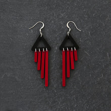 Load image into Gallery viewer, earrings RED / HOOK COLOUR POP CHIMETTES Colour Pop Chimettes Short Dangles | Handmade Statement Earrings | MAINE+MARA Shop