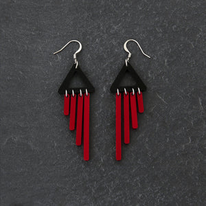 earrings RED / HOOK COLOUR POP CHIMETTES Colour Pop Chimettes Short Dangles | Handmade Statement Earrings | MAINE+MARA Shop