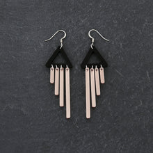 Load image into Gallery viewer, earrings ROSE GOLD / HOOK COLOUR POP CHIMETTES Colour Pop Chimettes Short Dangles | Handmade Statement Earrings | MAINE+MARA Shop