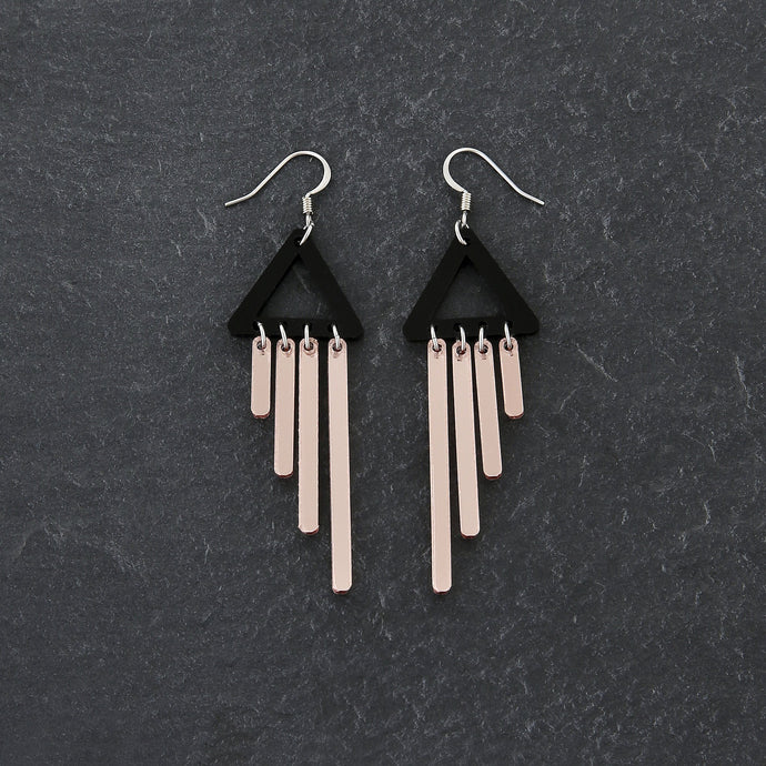 earrings ROSE GOLD / HOOK COLOUR POP CHIMETTES Colour Pop Chimettes Short Dangles | Handmade Statement Earrings | MAINE+MARA Shop