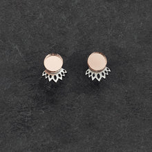 Load image into Gallery viewer, Earrings ROSE GOLD / SILVER CROWN JACKET MINI STUDS Crown Jacket Glittery Studs | Statement Earrings | MAINE+MARA Shop