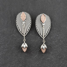 Load image into Gallery viewer, Earrings SMALL THE ATHENA I Silver and Rose Gold Stackable Earrings THE ATHENA I Silver and Rose Gold Customisable Earrings I Handmade in Australia