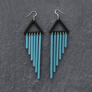 earrings TEAL / HOOK COLOUR POP CHIMES DANGLES Colour Pop Chimes Long Dangles | Hook or Clip-on Statement Earrings | MAINE+MARA Shop