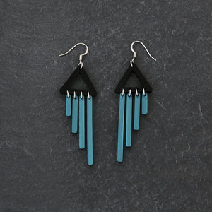 earrings TEAL / HOOK COLOUR POP CHIMETTES Colour Pop Chimettes Short Dangles | Handmade Statement Earrings | MAINE+MARA Shop
