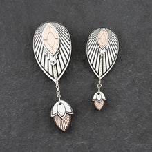 Load image into Gallery viewer, Earrings THE ATHENA I Silver and Rose Gold Stackable Earrings THE ATHENA I Silver and Rose Gold Customisable Earrings I Handmade in Australia