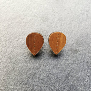 Earrings WOOD LEAVE ME HERE STUD EARRINGS LEAVE ME HERE | Meaningful Statement Stud Earrings | MAINE+MARA Shop