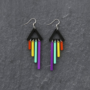 Jewellery PURPLE / HOOK RAINBOW CHIMETTES RAINBOW CHEEKY CHIMES + CHIMETTES Earrings, Studs and Clip ons available