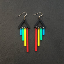 Load image into Gallery viewer, Jewellery RED / HOOK RAINBOW CHIMETTES RAINBOW CHEEKY CHIMES + CHIMETTES Earrings, Studs and Clip ons available