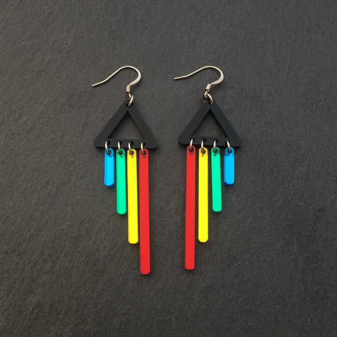 Jewellery RED / HOOK RAINBOW CHIMETTES RAINBOW CHEEKY CHIMES + CHIMETTES Earrings, Studs and Clip ons available