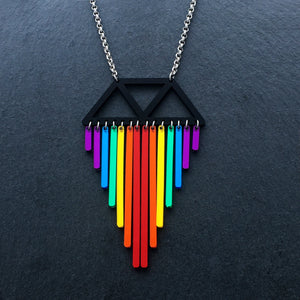 Jewellery SHORT (35CM) RAINBOW CHIMES NECKLACE