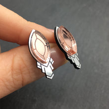 Load image into Gallery viewer, Jewellery SMALL THE ATHENA I ROSE STUD EARRINGS THE ATHENA I ROSE GOLD AND SILVER STATEMENT STUD EARRINGS