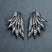 Load image into Gallery viewer, Jewellery STUDS THE COCKIE COLLAB I COURTNEY WINGS COURTNEY WINGS Stud or Clip-on Statement Earrings  | Collab With Mulga the Artist | MAINE+MARA Shop