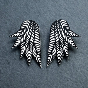 Jewellery STUDS THE COCKIE COLLAB I COURTNEY WINGS COURTNEY WINGS Stud or Clip-on Statement Earrings  | Collab With Mulga the Artist | MAINE+MARA Shop
