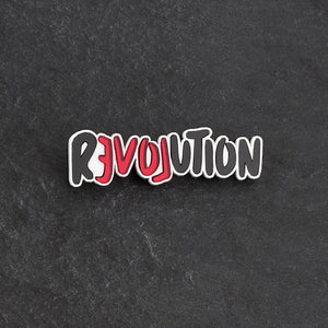 brooch LOVE REVOLUTION I BROOCH LOVE REVOLUTION  | Meaningful Statement Brooch | MAINE+MARA Shop