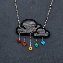 Load image into Gallery viewer, necklace RAINBOW LOVE RAIN I NECKLACE Love Rain Cloud and Heart Necklace | Statement Necklace | MAINE+MARA Shop