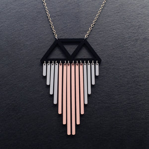 necklace ROSE GOLD / LONG (45CM) COLOUR POP I CHIMES NECKLACE Colour Pop Chimes Pendant | Statement Necklaces | MAINE+MARA Shop