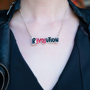 Necklace LOVE REVOLUTION I Statement Necklace LOVE REVOLUTION  | Meaningful Statement Necklace | MAINE+MARA Shop