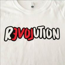 Load image into Gallery viewer, T-shirt WHITE / LOOSE / MEDIUM LOVE REVOLUTION T-SHIRT LOVE REVOLUTION I Handprinted Organic Cotton T-Shirt  | MAINE+MARA Shop