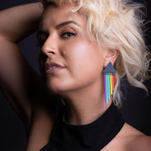 Load image into Gallery viewer, Earrings RAINBOW CHEEKY CHIMES RAINBOW CHEEKY CHIMES I  Lightweight Rainbow Earrings I Handmade Pride Earring