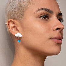 Load image into Gallery viewer, earrings LOVE RAINDROPS LOVE RAINDROPS Cloud and Heart Earrings | Statement Studs | MAINE+MARA Shop
