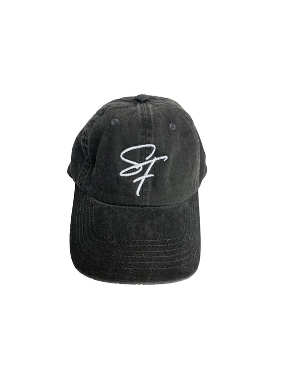 Signature Logo Fitted- Vintage Black