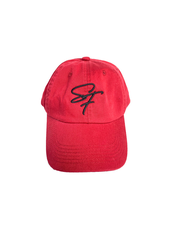 Signature Logo Fitted- Deep Red