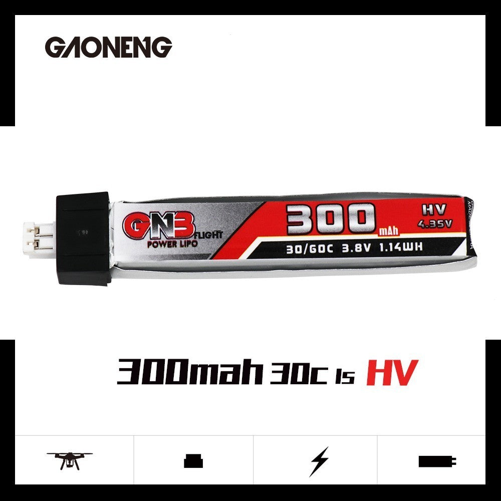 GNB 1S 300mah 30C HV PH2.0 Lipo Battery