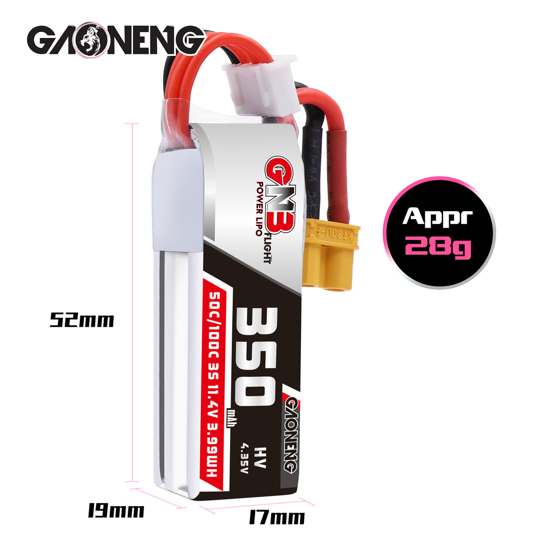 GNB 3S 350mah 50C XT30 Lipo Battery