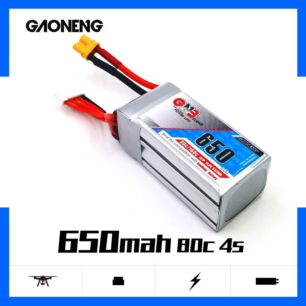 GNB 4S 650mah 80C XT30 Lipo Battery