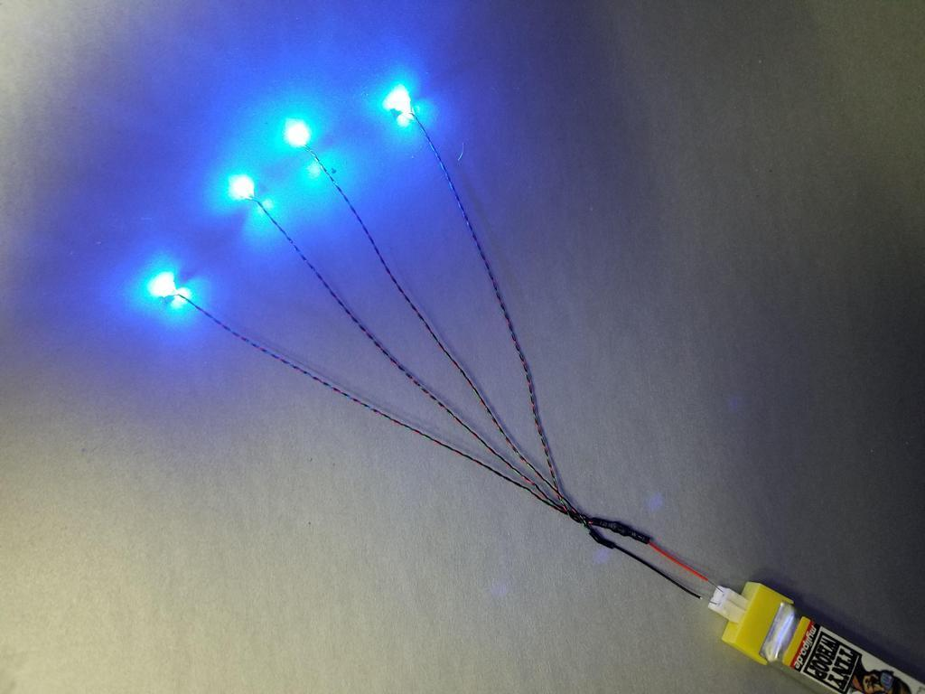 TinyWhoop Harness of 4 Tiny LED's