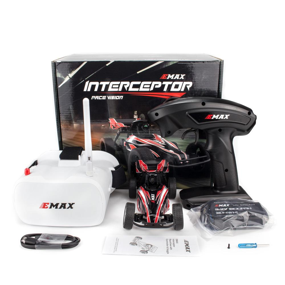 Emax Interceptor RaceVision FPV RC Car - RTR (With Goggles)