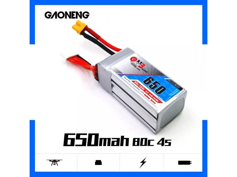 GNB 4S 650mah 80C XT60 Lipo Battery