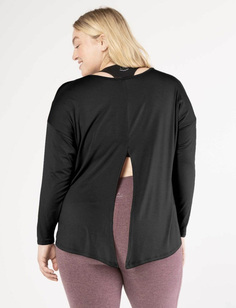 Draw The Line Tie Back Pullover - Beyond Yoga