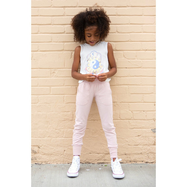 Girls Hacci Tappered Jogger - Spiritual Gangster Kids
