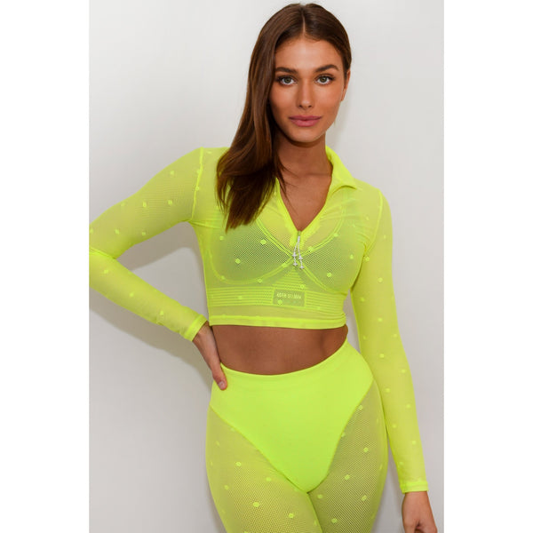 Long Sleeve Crop Top - Adam Selman Sport