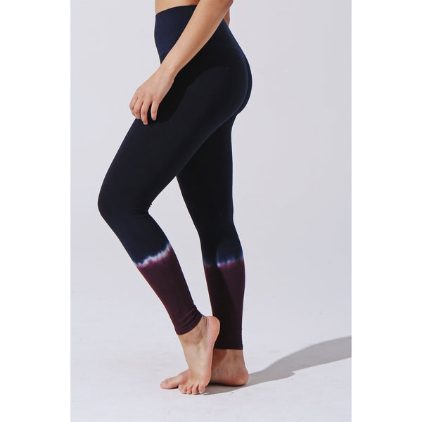Sunset Legging - Aubergine - Electric & Rose