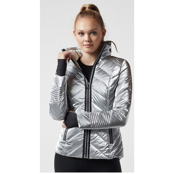 Super Hero Puffer With Reflective Trim - Blanc Noir