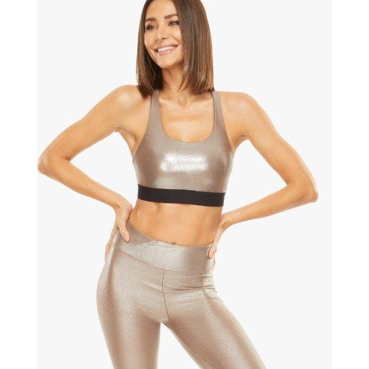 Tax Glaze Sports Bra - Koral