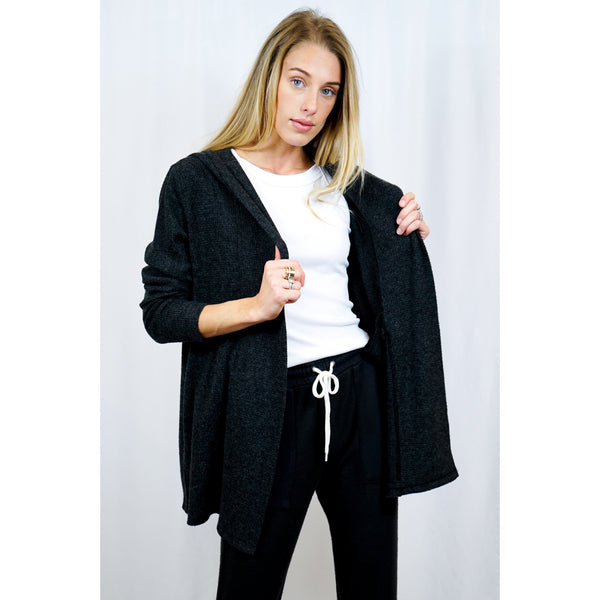 Thermal Hooded Cardigan - Monrow