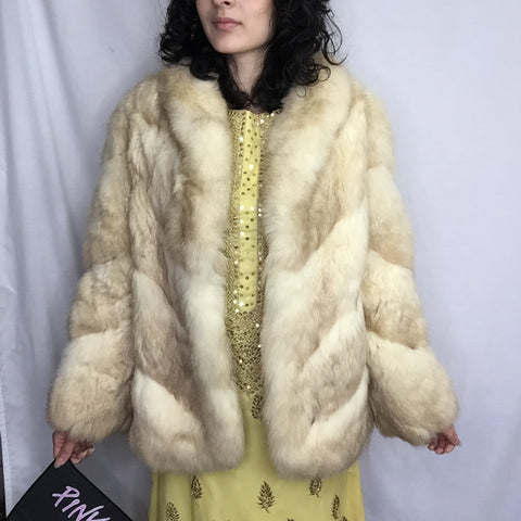 Vintage 1970s | Genuine Fur Bohemian Coat by Diane Furs
